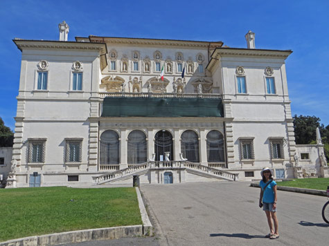 Borghese Museum in Rome Italy