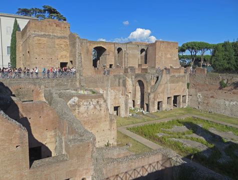 Domus Augustana - Palace on Palatine Hill in Rome Italy