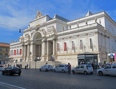 Exposition Palace in Rome Italy