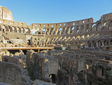 Architecture of the Colosseum in Rome