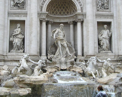 Pictures Of Rome Italy. Trevi Fountain, Rome Italy
