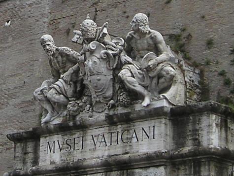 vaticanmuseum ... the runt of the litter, is deep in pubescent crisis under heavy assault ...